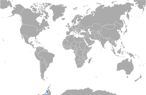 Map showing the location of symbolical territorial claims of Lostisland.