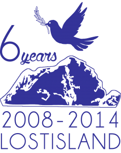 Logotype of the Sixth Anniversary of Lostisland.