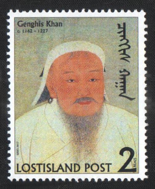 Genghis Khan Stamp